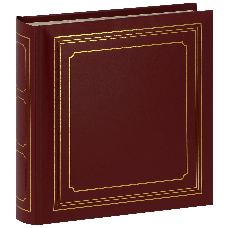PANODIA - Album photo pochettes avec mémo EMPIRE - 100 pages ivoires - 200 photos - Couverture Bordeaux 22x22.5cm