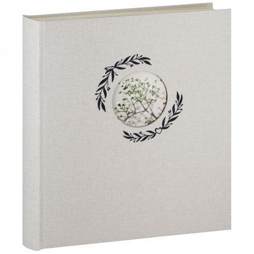 PANODIA - Album photo traditionnel FOREVER - 100 pages ivoires + feuillets cristal - 500 photos - Couverture Blanche 33x37,5cm + fenêtre