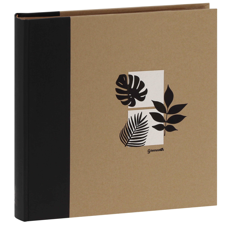 PANODIA - Album photo traditionnel GREENEARTH - 100 pages kraft + feuillets cristal - 400 photos - Couverture Noire 30x30cm