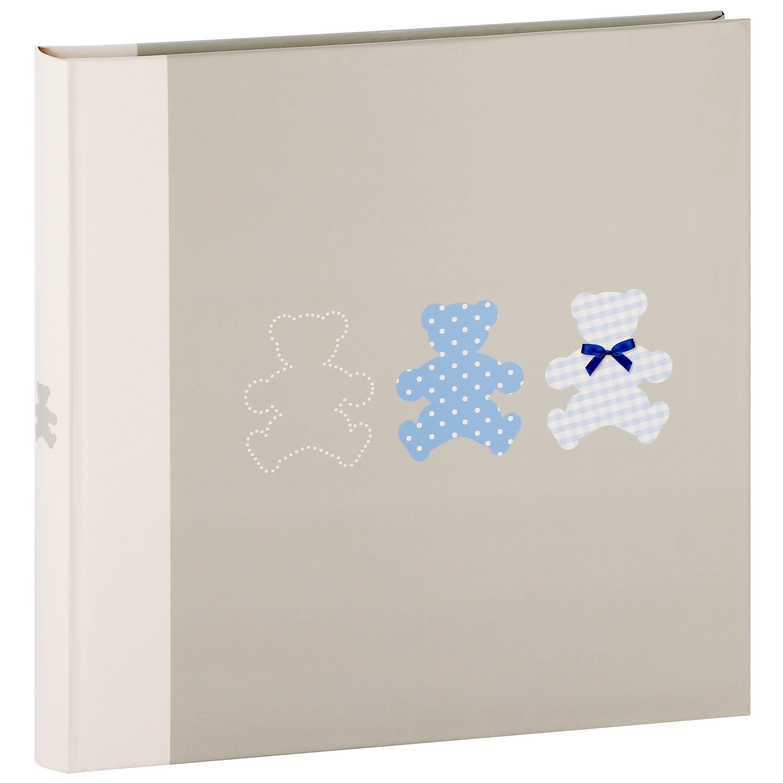PANODIA - Album photo traditionnel Naissance TIMOTEE - 60 pages blanches + feuillets cristal - 240 photos - Couverture Bleue 30x30cm