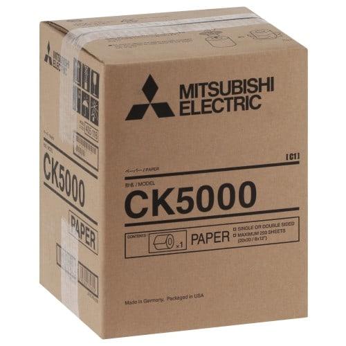 Consommable thermique MITSUBISHI pour CP-W5000DW - Papier Thermique recto/verso 20x30cm - 250 tirages