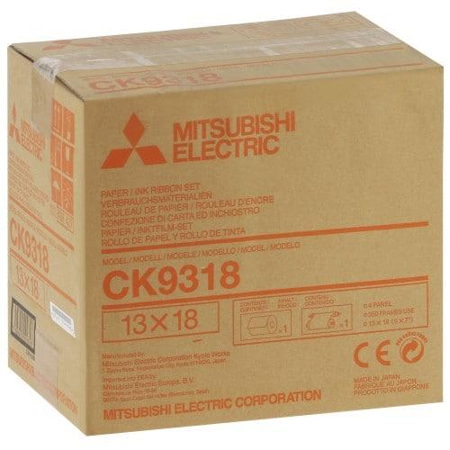 MITSUBISHI - Consommable thermique CK9318 pour CP-9500DW-S / CP-9550DW-S / CP-9820DW-S - 350 tirages 13x18cm