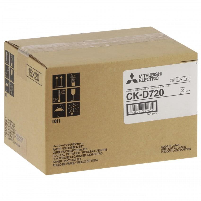 Consommable thermique MITSUBISHI CK-D720 pour CP-D70DW-S / CP-D707DW-S - 15x20cm - 400 tirages