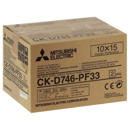 MITSUBISHI - Consommable thermique CK-D746PF33 pour CP-D70DW / CP-D707DW / CP-D90DW-P - 800 tirages 10x15cm perforés