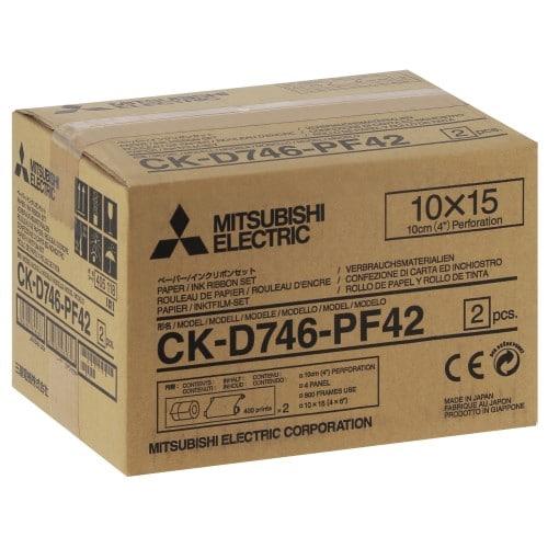 MITSUBISHI - Consommable thermique CK-D746PF42 pour CP-D70DW / CP-D707DW / CP-D90DW-P - 800 tirages 10x15cm perforés