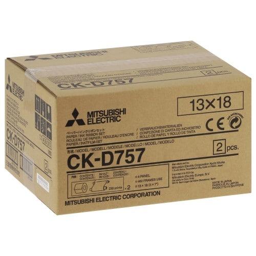 MITSUBISHI - Consommable thermique CK-D757 pour CP-D70DW / CP-D707DW / CP-D80DW / CP-D90DW-P - 460 tirages 13x18cm