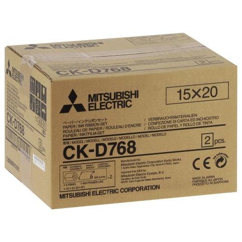 Consommable thermique MITSUBISHI CK-D768 pour CP-D70DW / CP-D707DW / CP-D90DW - 15x20cm - 400 tirages