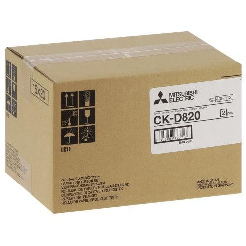 Consommable thermique MITSUBISHI CK-D820 pour CP-D80DW-S - 860 tirages 10x15cm ou 430 tirages 15x20cm
