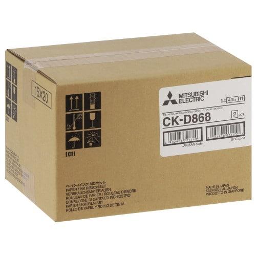 Consommable thermique MITSUBISHI CK-D868 pour CP-D80DW / CP-D90DW - 860 tirages 10x15cm ou 430 tirages 15x20cm