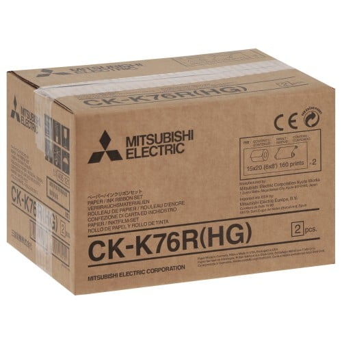 Consommable thermique MITSUBISHI Haute Qualité - Pour CP-K60DW-S - 640 tirages 10x15cm ou 320 tirages 15x20cm