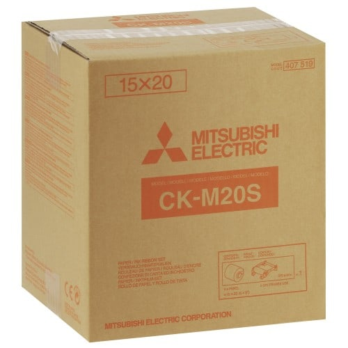 pour CP-M15E - 750 impressions 10x15 ou 375 impressions 15x20 (en 1 seul rouleau)
