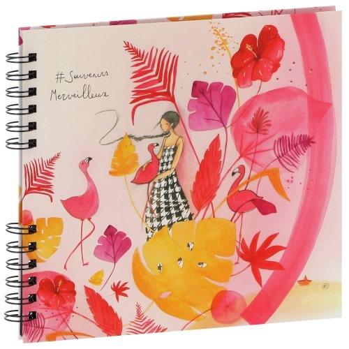 """PANODIA - Album photo traditionnel ARTISTES - Anne-Sophie Rutsaert - 40 pages noires - 80 photos - Couverture """"Souvenirs Merveilleux"""" 25x23cm"""