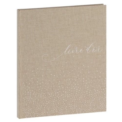 PANODIA - Livre d'or Mariage BOHEME - 80 pages blanches - Couverture Beige 20,5x24,5cm