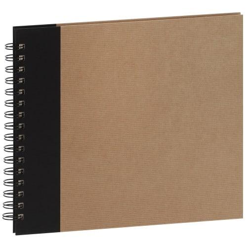 série ESKIS 22x22cm - spirale 60 pages ivoire - Traditionnel (Kraft & Noir)