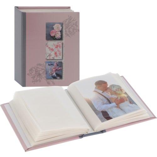 PANODIA - Mini album pochettes sans mémo LILA Minimax - 100 pages blanches - 100 photos - Couverture 14x17cm