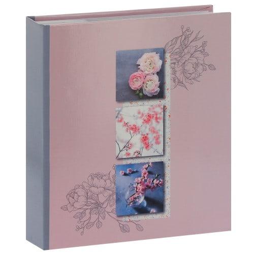 PANODIA - Album photo pochettes avec mémo LILA - 100 pages blanches - 200 photos - Couverture 22x24,5cm