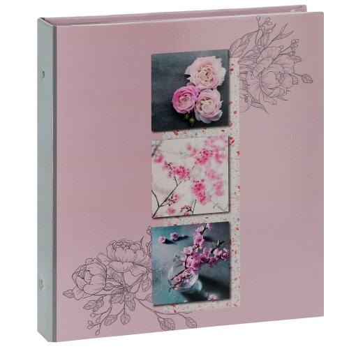 PANODIA - Classeur avec anneaux - pochettes sans mémo LILA - 80 pages - 400 photos - Couverture 33,5x37,5cm