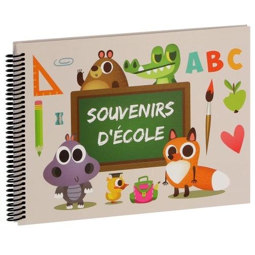 PANODIA - Album photo scolaire ABC SOUVENIR D'ECOLE - 50 pages illustrées - Pour 8 années scolaires - Couverture 34x24cm