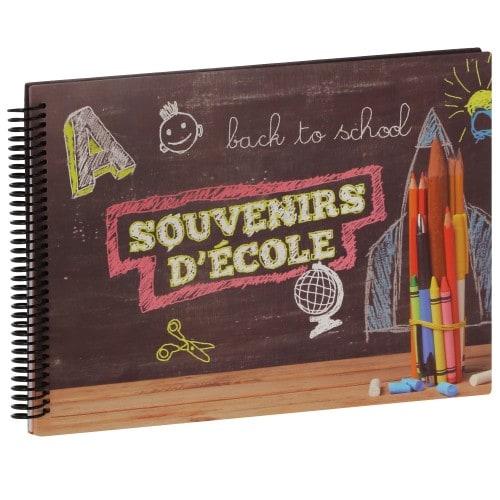 PANODIA - Album photo scolaire BACK TO SCHOOL SOUVENIR D'ECOLE - 34 pages illustrées - Pour 8 années scolaires - Couverture 34x24cm