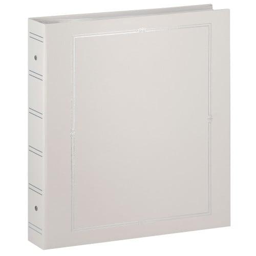 PANODIA - Classeur avec anneaux - pochettes sans mémo VENUS - 80 pages blanches - 400 photos - Couverture 33,5x37,5cm