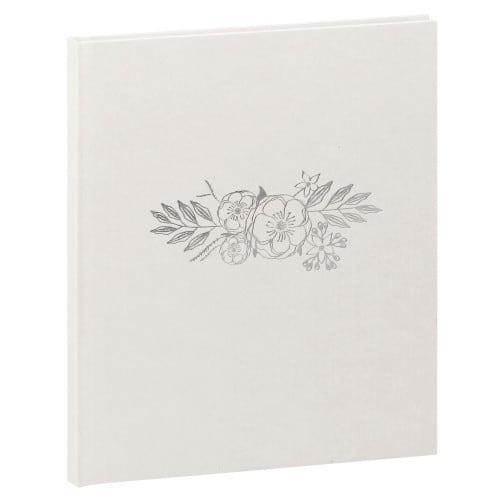 série WEDDING 21x25cm 80 pages blanches Tranche argenté Couverture en vinyle irisée Marquage contemporain - Pigment argent