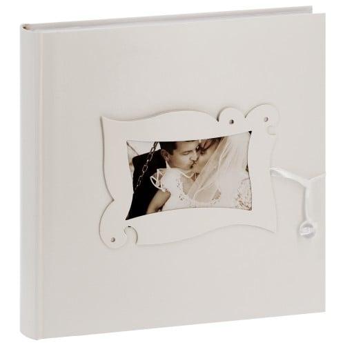 PANODIA - Album photo mariage NOVA - 100 pages blanches + feuillets cristal - 400 photos - Couverture Beige 30x30cm + fenêtre