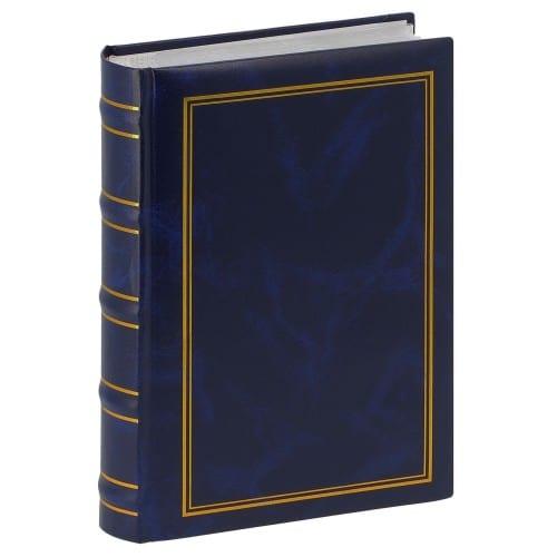 ERICA - Album photo pochettes avec mémo MARBRE 2 - 100 pages blanches - 200 photos - Couverture Bleue 20x27,6cm