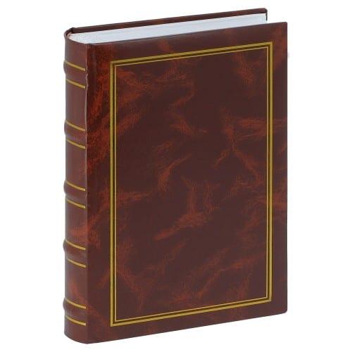 ERICA - Album photo pochettes avec mémo MARBRE 2 - 100 pages blanches - 200 photos - Couverture Bordeaux 20x27,6cm