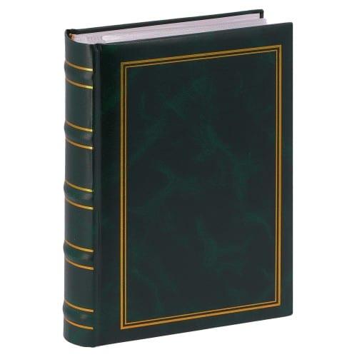 ERICA - Album photo pochettes avec mémo MARBRE 2 - 100 pages blanches - 200 photos - Couverture Verte 20x27,6cm