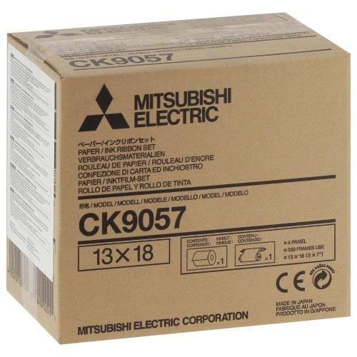 MITSUBISHI - Consommable thermique CK9057 - Pour CP-9500DW / CP-9550DW / CP-9800DW / CP-9810DW - 350 tirages 13x18cm