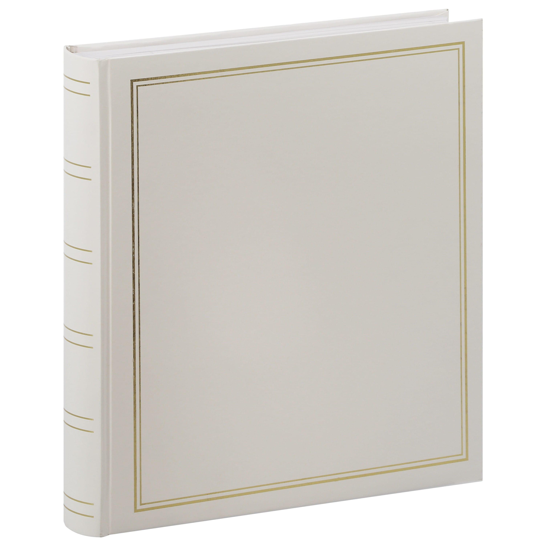 PANODIA - Album photo traditionnel CLASSIC - 100 pages blanches - 500 photos - Couverture Blanche 30x33cm