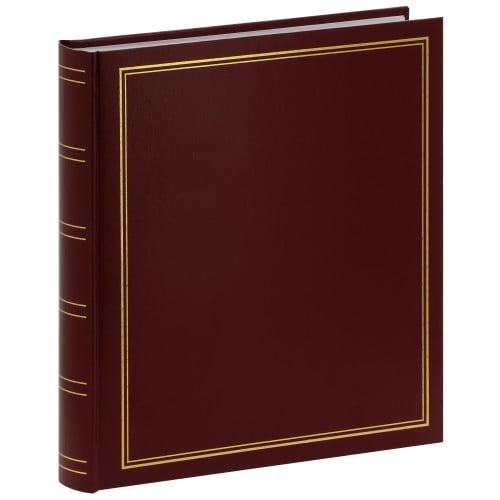 PANODIA - Album photo traditionnel CLASSIC - 100 pages blanches - 500 photos - Couverture Bordeaux 30x33cm