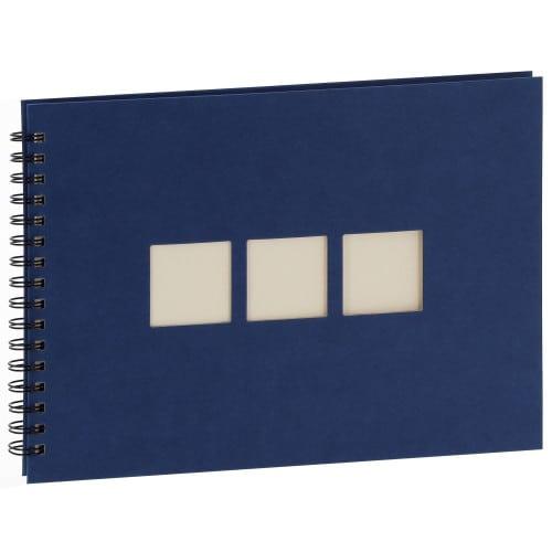 Panodia Manille Album Trad. à spirale 60P 180V 3 fenêtres Bleu