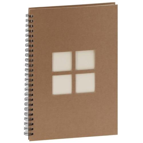 PANODIA - Album photo traditionnel MANILLE - 60 pages ivoires - 240 photos - Couverture Kraft 24x34cm + 4 fenêtres