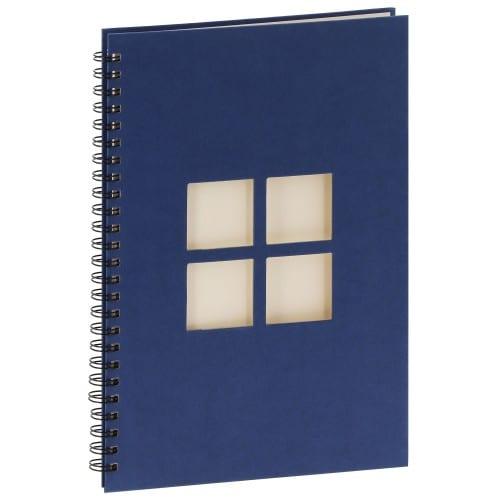 PANODIA - Album photo traditionnel MANILLE - 60 pages ivoires - 240 photos - Couverture Bleue 24x34cm + 4 fenêtres