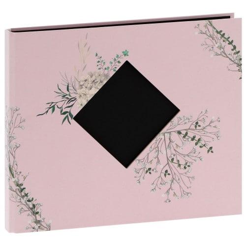 """""""STORY"""" 25x21cm - à spirales cachées - 120 photos 10x15cm - 60 pages traditionnelles noires (Flora + fenêtre)"""