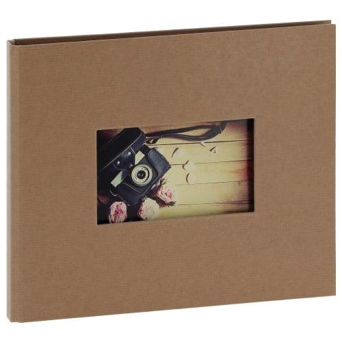 """""""STUDIO"""" 32x22cm - à spirales cachées - 120 photos 10x15cm - 60 pages traditionnelles noires (Kraft + fenêtre)"""