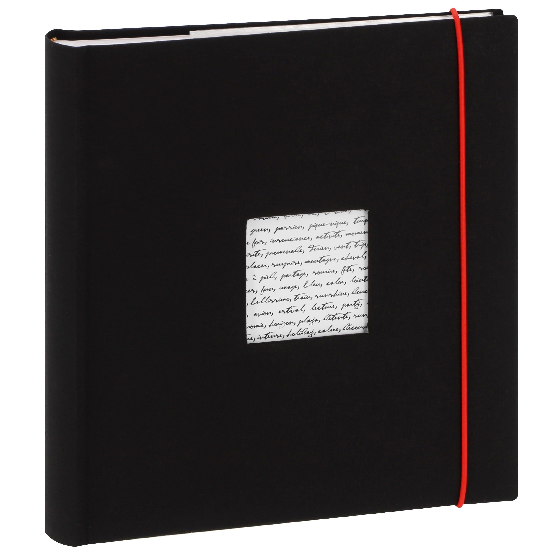 PANODIA - Album photo pochettes avec mémo LINEA - 100 pages blanches - 200 photos - Couverture Noire 24x25cm + fenêtre