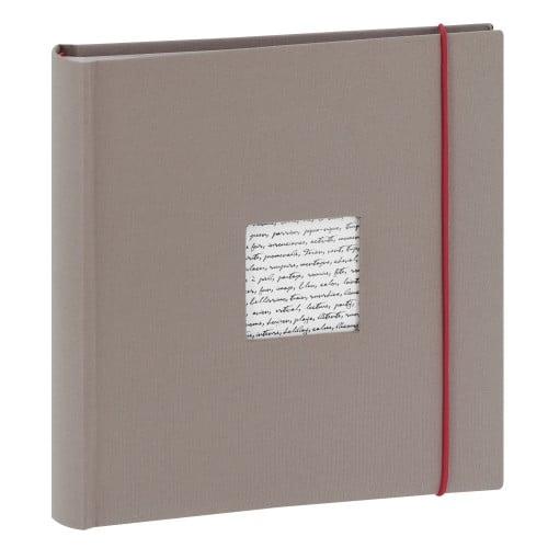 PANODIA - Album photo pochettes avec mémo LINEA - 100 pages blanches - 200 photos - Couverture Grise 24x25cm + fenêtre