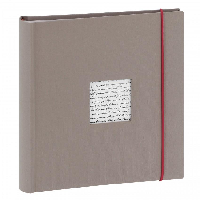 Album photo PANODIA série LINEA 200 photos 10x15 - Pochettes Couverture personnalisable (Gris clair)