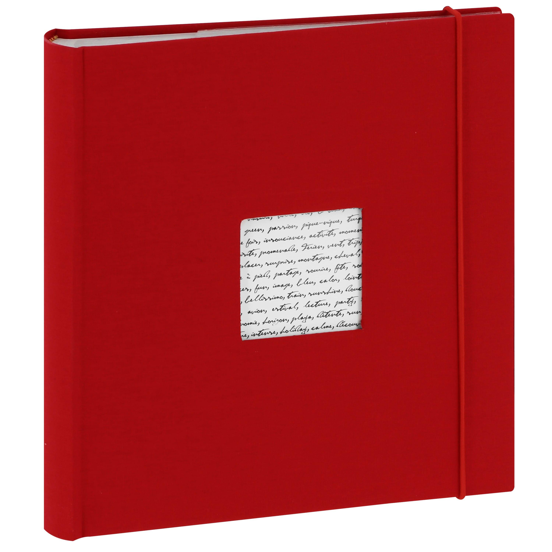 PANODIA - Album photo pochettes avec mémo LINEA - 100 pages blanches - 200 photos - Couverture Rouge 24x25cm + fenêtre