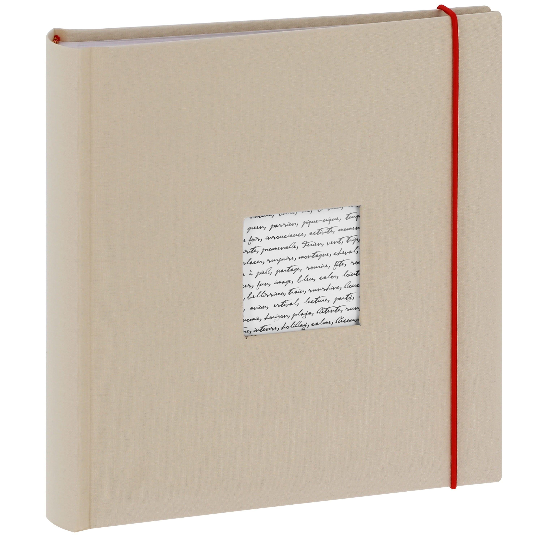 PANODIA - Album photo pochettes avec mémo LINEA - 100 pages blanches - 200 photos - Couverture Blanche 24x25cm + fenêtre