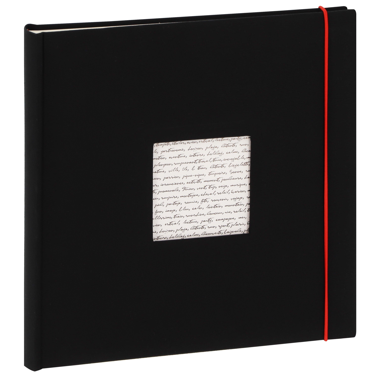 PANODIA - Album photo traditionnel LINEA - 60 pages ivoires + feuillets cristal - 240 photos - Couverture Noire 30x30cm + fenêtre