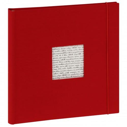 PANODIA - Album photo traditionnel LINEA - 60 pages ivoires + feuillets cristal - 240 photos - Couverture Rouge 30x30cm + fenêtre