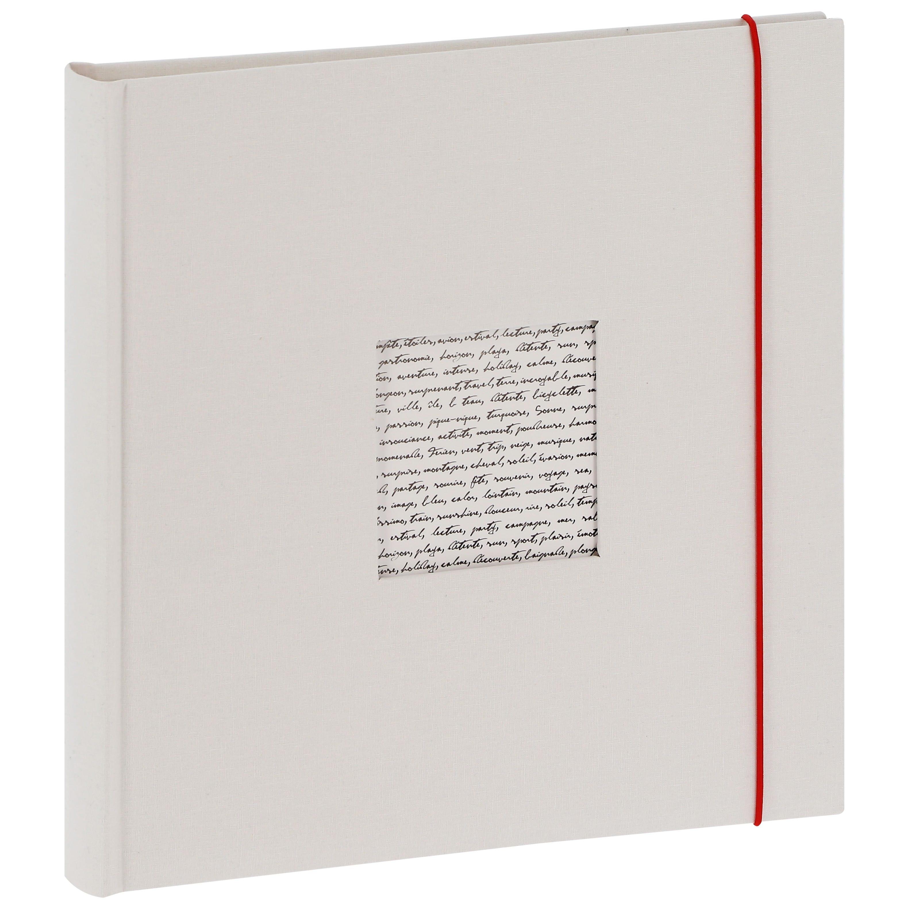 PANODIA - Album photo traditionnel Mariage LINEA - 60 pages ivoires + feuillets cristal - 240 photos - Couverture Blanche 30x30cm + fenêtre