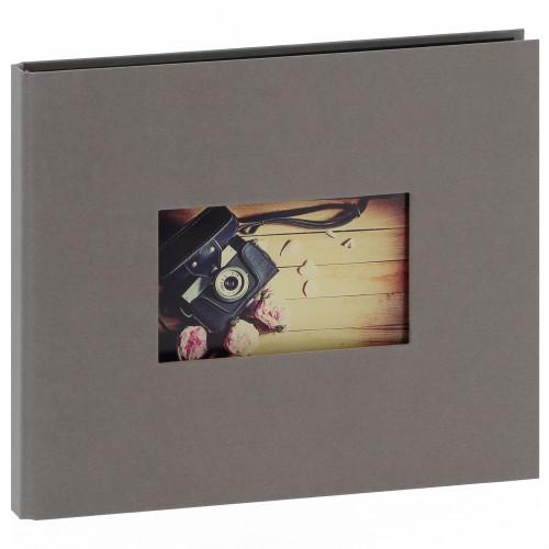 """""""STUDIO"""" 25x21cm - à spirales cachées - 120 photos 10x15cm - 60 pages traditionnelles noires (Gris + fenêtre)"""