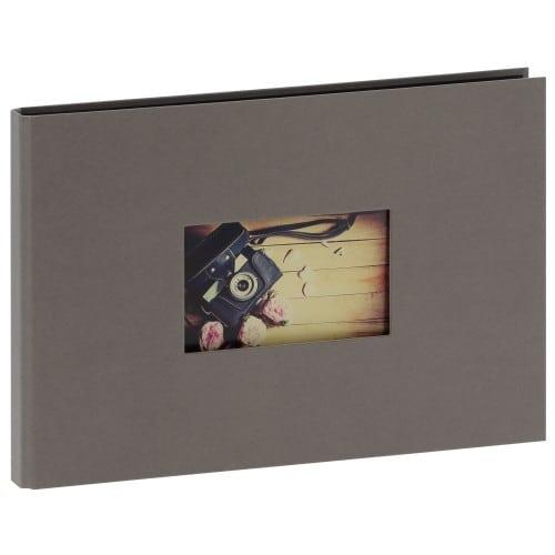 """""""STUDIO"""" 32x22cm - à spirales cachées - 180 photos 10x15cm - 60 pages traditionnelles noires (Gris + fenêtre)"""