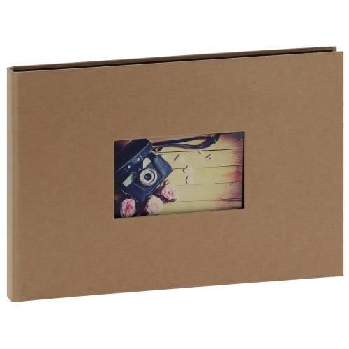 """""""STUDIO"""" 32x22 - à spirales cachées - 180 photos 10x15cm - 60 pages traditionnelles noires (Kraft + fenêtre)"""