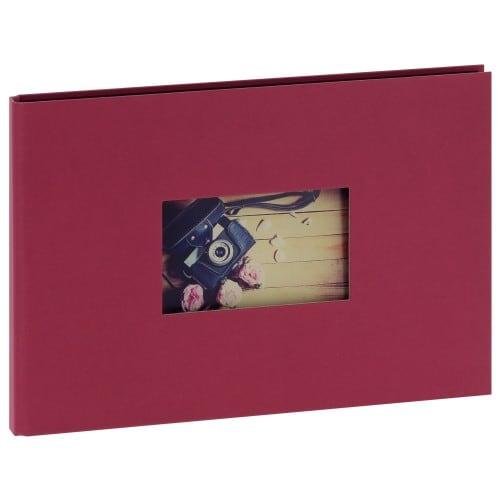 """""""STUDIO"""" 32x22cm - à spirales cachées - 180 photos 10x15cm - 60 pages traditionnelles noires (Framboise + fenêtre)"""