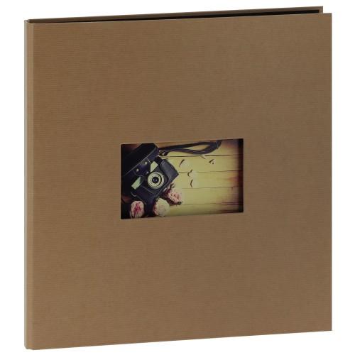 """""""STUDIO"""" 32x32cm - 300 photos 10x15cm - 60 pages traditionnelles noires (Kraft + 1 fenêtre)"""